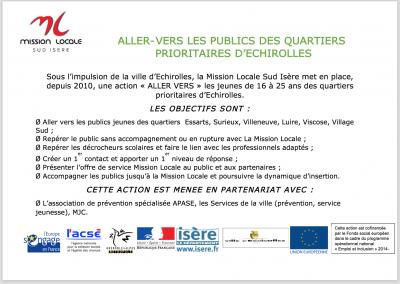 «ALLER-VERS» – Action financée par le FSE / Politique de la Ville