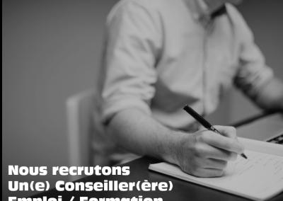 Nous recrutons un.e conseiller.ère emploi / formation